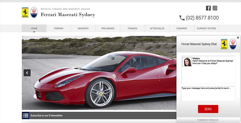 Drive Chat Ferrari widget